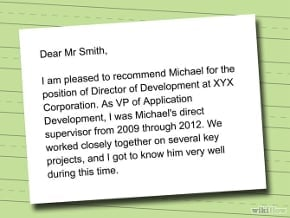 Template Recommendation letter