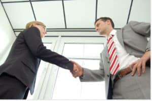 A la fin de l'entretien d'embauche