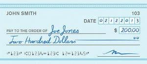 Modèle de lettre de désistement d'un chèque