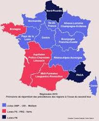 Sondages élections régionales 2015 - journaux étrangers, suisses et belges