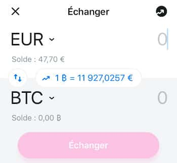 Cours du Bitcoin en direct