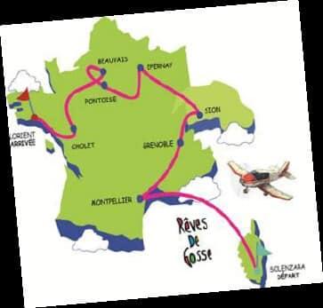 Tour de France aérien pour des enfants en situation de handicap du 31 mai au 8 juin 2019