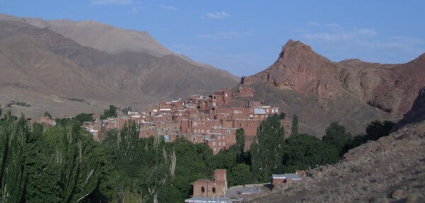 Le village d'Abyaneh en Iran