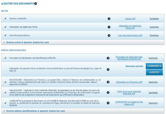 Gestion des documents sur infogreffe
