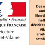 La lutte contre le virus à l'origine de mesures liberticides dans le département d'Ille-et-Vilaine