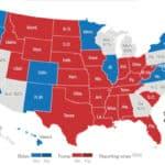Carte élection présidentielle américaine